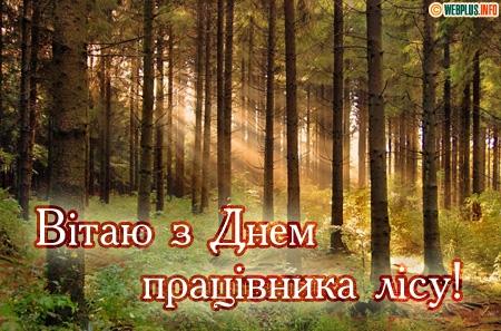 Вітаю з Днем працівника лісу