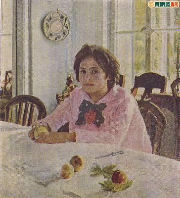 Девочка с персиками. (Москва 1954г.)