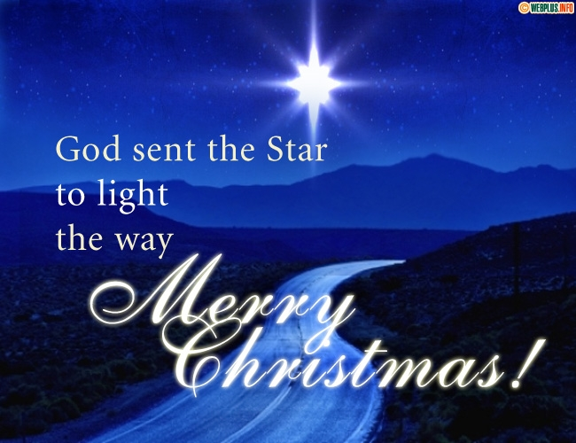 God sent the Star