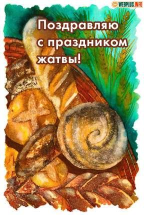 Поздравляю с праздником Жатвы!