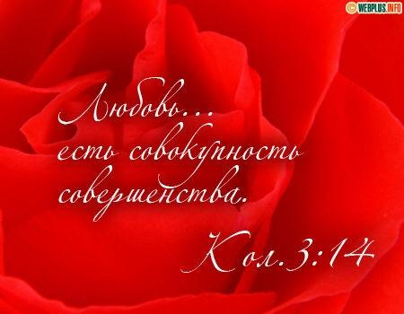 Любовь есть совокупность совершенства