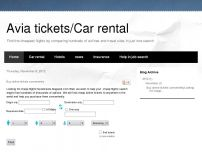 Сайт: Avia tickets/Car rental