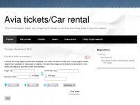 Сайт: Avia tickets/Car rental