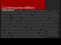 Сайт: Contemporary Military Historian