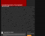 Сайт: Contemporary European Archivist