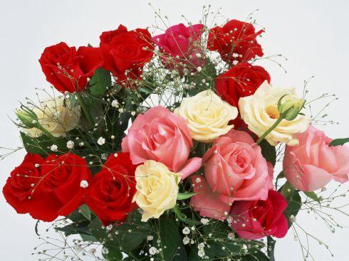 Обои для рабочего стола букет цветов