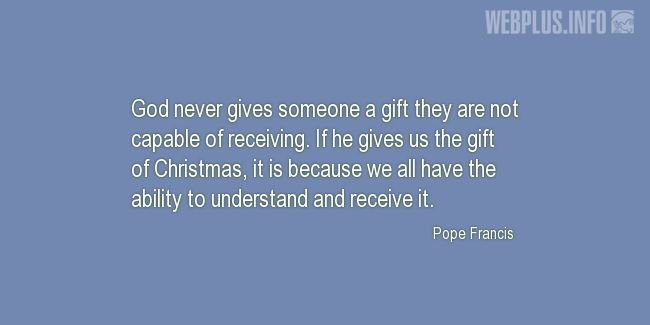 Quotes and pictures for Christmas. «The gift of Christmas» quotation with photo.