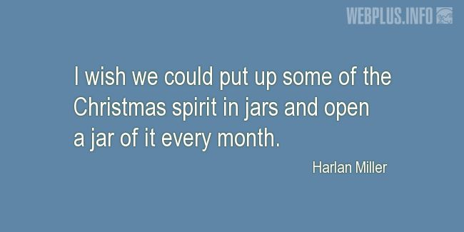 Quotes and pictures for Christmas. «Christmas spirit in jars» quotation with photo.