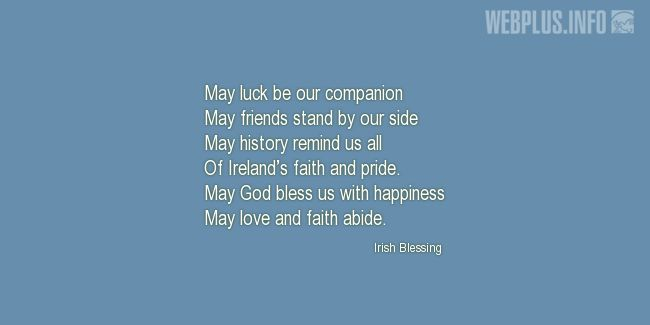 Quotes and pictures for St.Patrick's Day quotations. «May God bless us» quotation with photo.