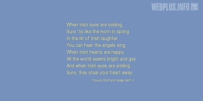 Quotes and pictures for St.Patrick's Day quotations. «Irish eyes» quotation with photo.