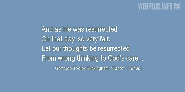 Quotes and pictures for Easter Quotes, Sayings, Verses, Poems. «Let our thoughts be resurrected» quotation with photo.