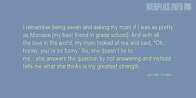 Quotes and pictures for Raising children. «Wise answer» quotation with photo.