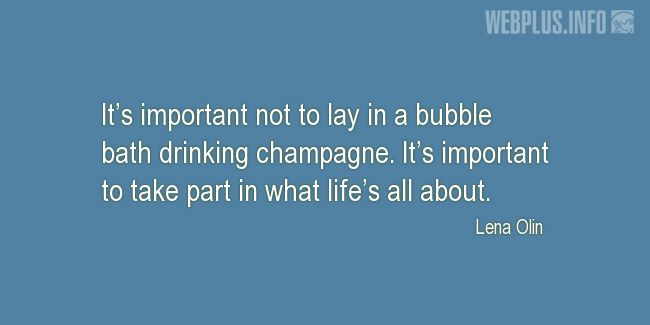 Quotes and pictures for Drinking. «It's important» quotation with photo.