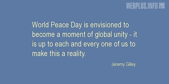 Quotes and pictures for Peace. «A moment of global unity» quotation with photo.