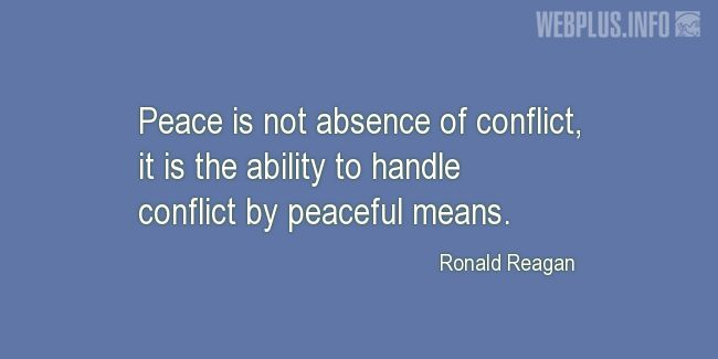 Quotes and pictures for Peace. «By peaceful means» quotation with photo.