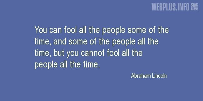 Quotes and pictures for April Fools' Day. «You can fool people» quotation with photo.