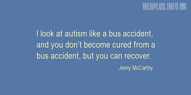 Quotes and pictures for Autism. «You can recover» quotation with photo.