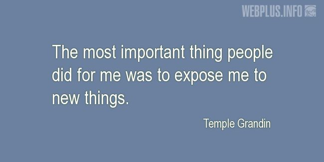 Quotes and pictures for Autism. «Expose me to new things» quotation with photo.