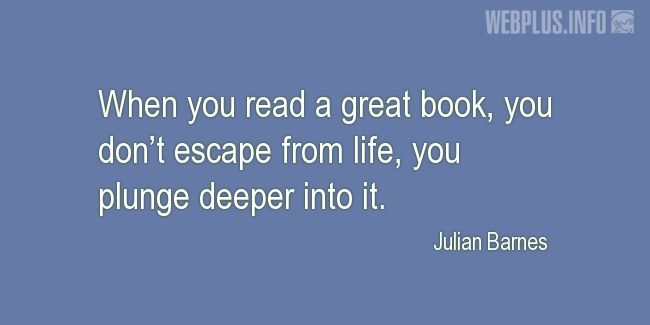 Quotes and pictures for A good book. «Deeper» quotation with photo.