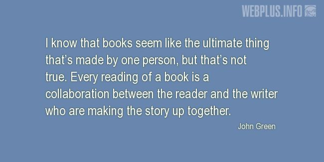 Quotes and pictures for About reading. «Making the story up together» quotation with photo.