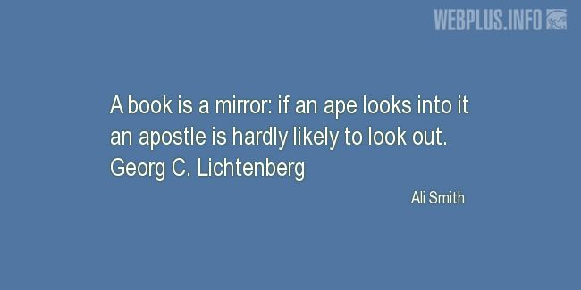 Quotes and pictures for About books. «A mirror» quotation with photo.