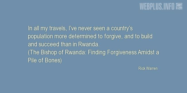 Quotes and pictures for Genocide in Rwanda. «More determined to forgive» quotation with photo.