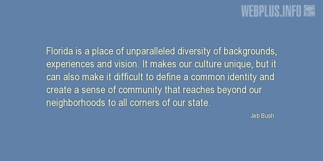 Quotes and pictures for About Florida. «Place of unparalleled diversity» quotation with photo.