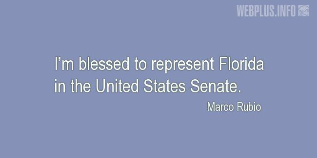 Quotes and pictures for About Florida. «I'm blessed» quotation with photo.