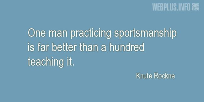 Quotes and pictures for About sport. «Far better» quotation with photo.