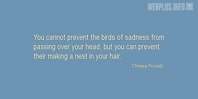 Quotes and pictures for Coping with disease. «Birds of sadness» quotation with photo.