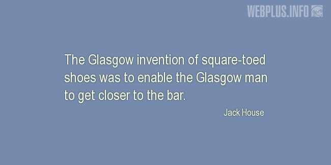 Quotes and pictures for Tartan. «Glasgow invention» quotation with photo.
