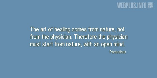 Quotes and pictures for Healing. «The art of healing» quotation with photo.