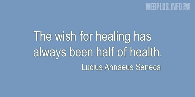 Quotes and pictures for Healing. «The wish for healing» quotation with photo.