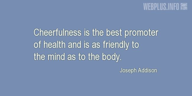 Quotes and pictures for Health and mind. «The best promoter of health» quotation with photo.