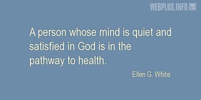 Quotes and pictures for Health and mind. «In the pathway to health» quotation with photo.