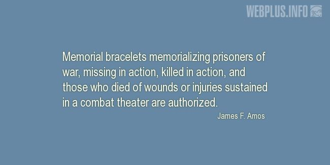 Quotes and pictures for Prisoners of war. «Memorial bracelets» quotation with photo.