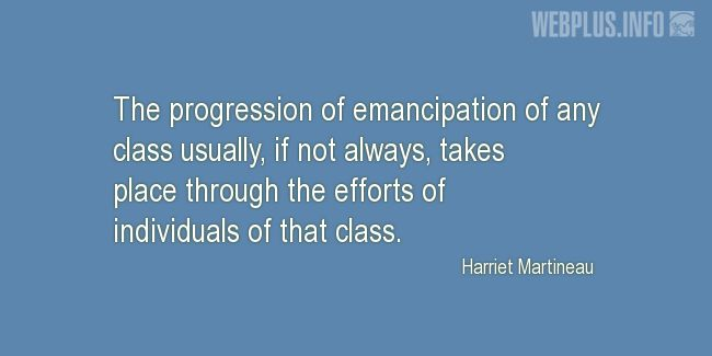 Quotes and pictures for Emancipation Day. «The progression of emancipation» quotation with photo.