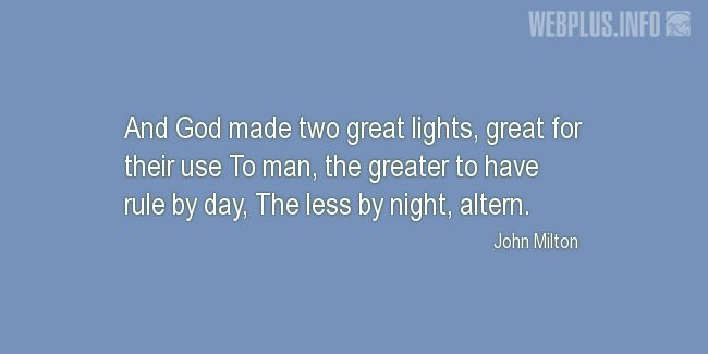 Quotes and pictures for The universe. «And God made two great lights» quotation with photo.