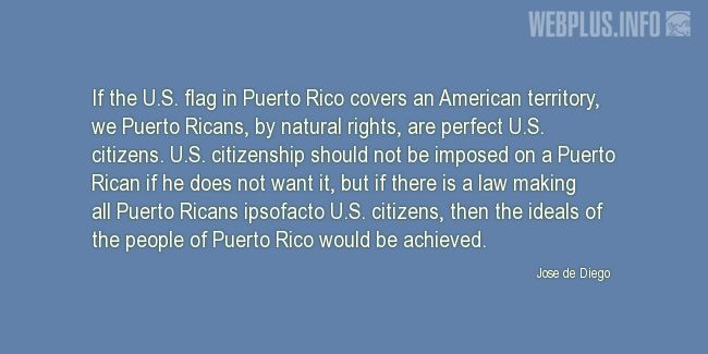 Quotes and pictures for Jose de Diego quotes. «Perfect U.S. citizens» quotation with photo.