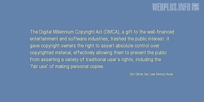 Quotes and pictures for Copyright. «DMCA» quotation with photo.