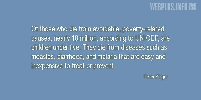 Quotes and pictures for Malaria. «Poverty-related causes» quotation with photo.