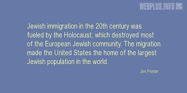 Quotes and pictures for Holocaust. «The home of the largest Jewish population in the world» quotation with photo.