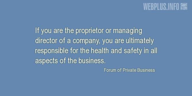 Quotes and pictures for Safety and Health at Work. «You are ultimately responsible» quotation with photo.
