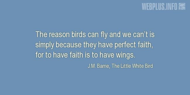 Quotes and pictures for Bird Day. «They have perfect faith» quotation with photo.