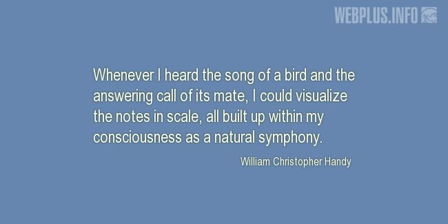 Quotes and pictures for Bird Day. «A natural symphony» quotation with photo.