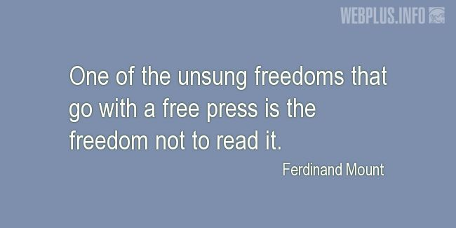 Quotes and pictures for Funny. «The freedom not to read it» quotation with photo.