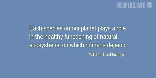 Quotes and pictures for Species diversity. «Each species on our planet» quotation with photo.