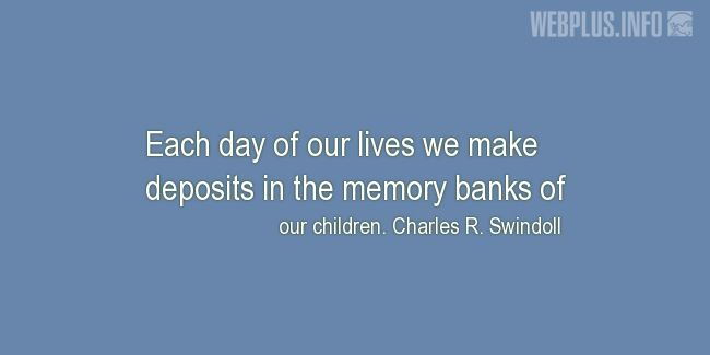 Quotes and pictures for Child's day. «Each day of our lives» quotation with photo.