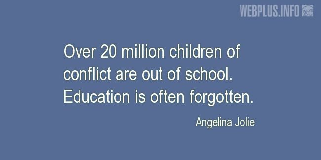 Quotes and pictures for Innocent Children Victims of Aggression. «Out of school» quotation with photo.