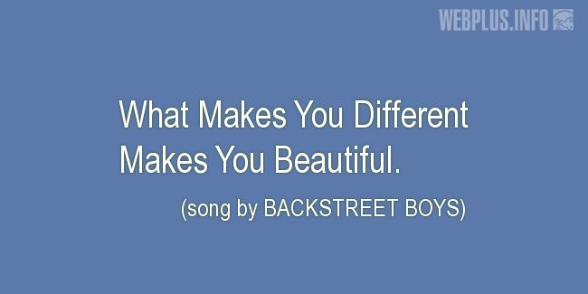 Quotes and pictures for Being different. «What Makes You Different» quotation with photo.